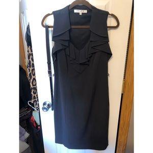 Evan Picone Grey Belted Dress